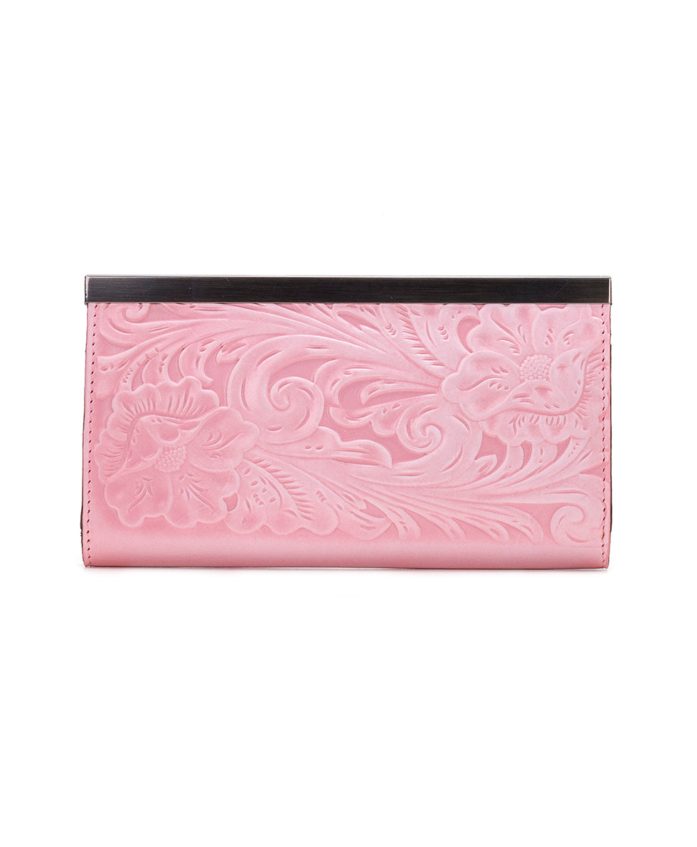 Cauchy Wallet - White Waxed Tooled 2