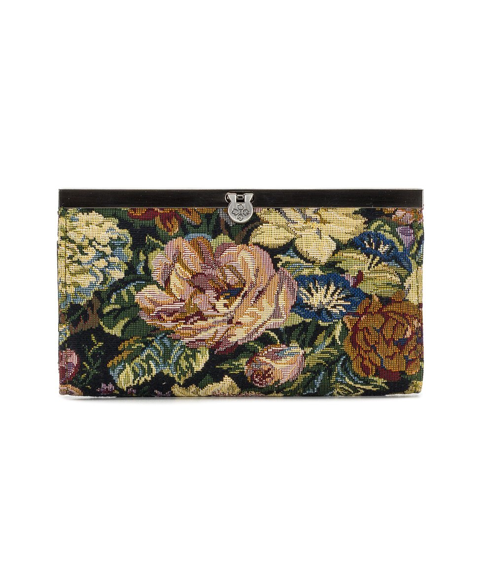 Cauchy Wallet - Woven Floral Tapestry
