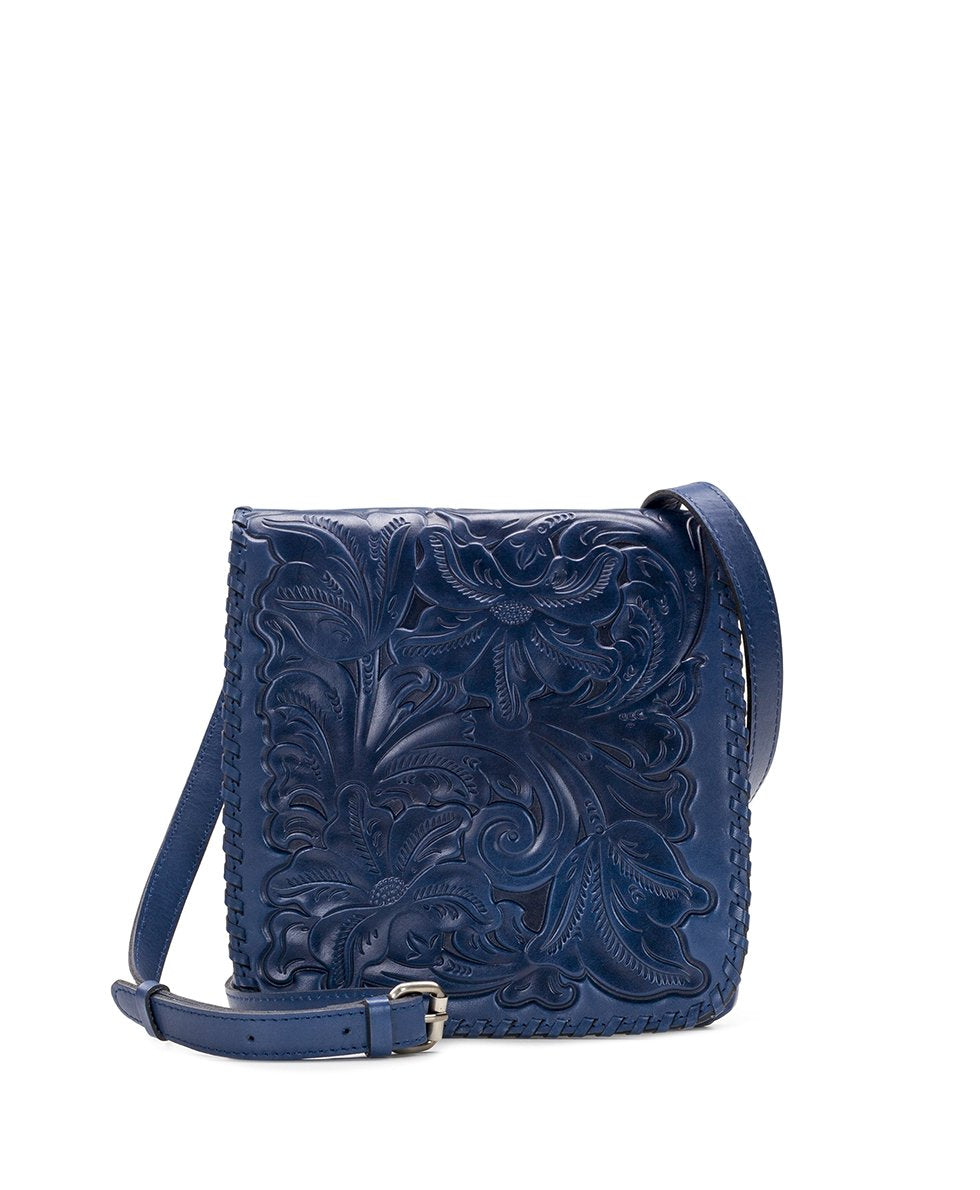 Granada Crossbody - Waxed Tooled