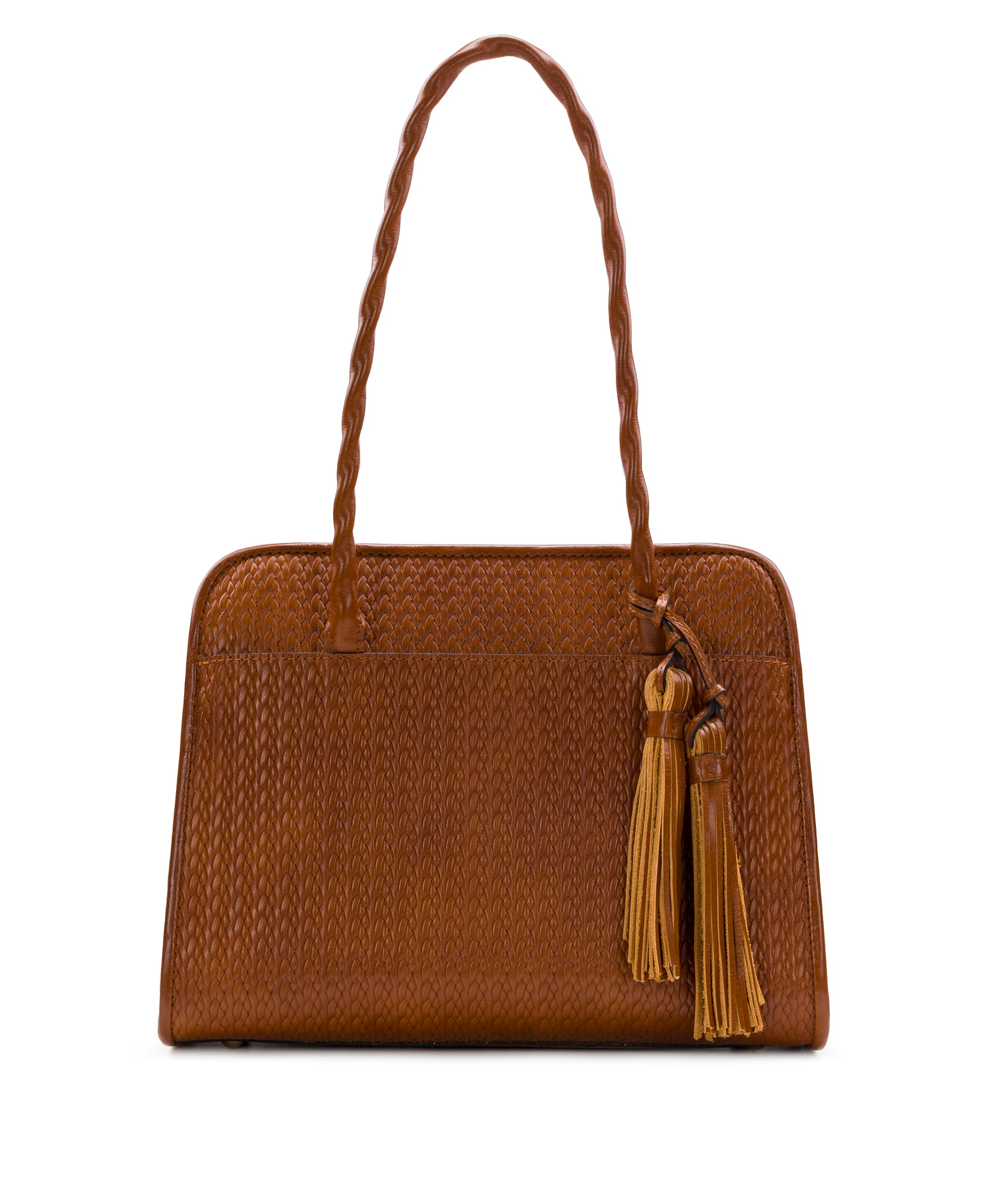 Paris Large Satchel - Twisted Woven Embossed