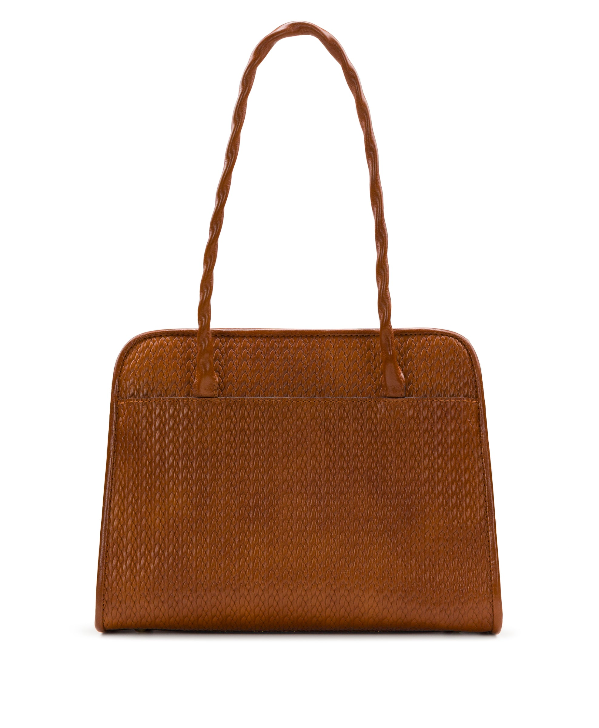 Paris Large Satchel - Twisted Woven Embossed 2