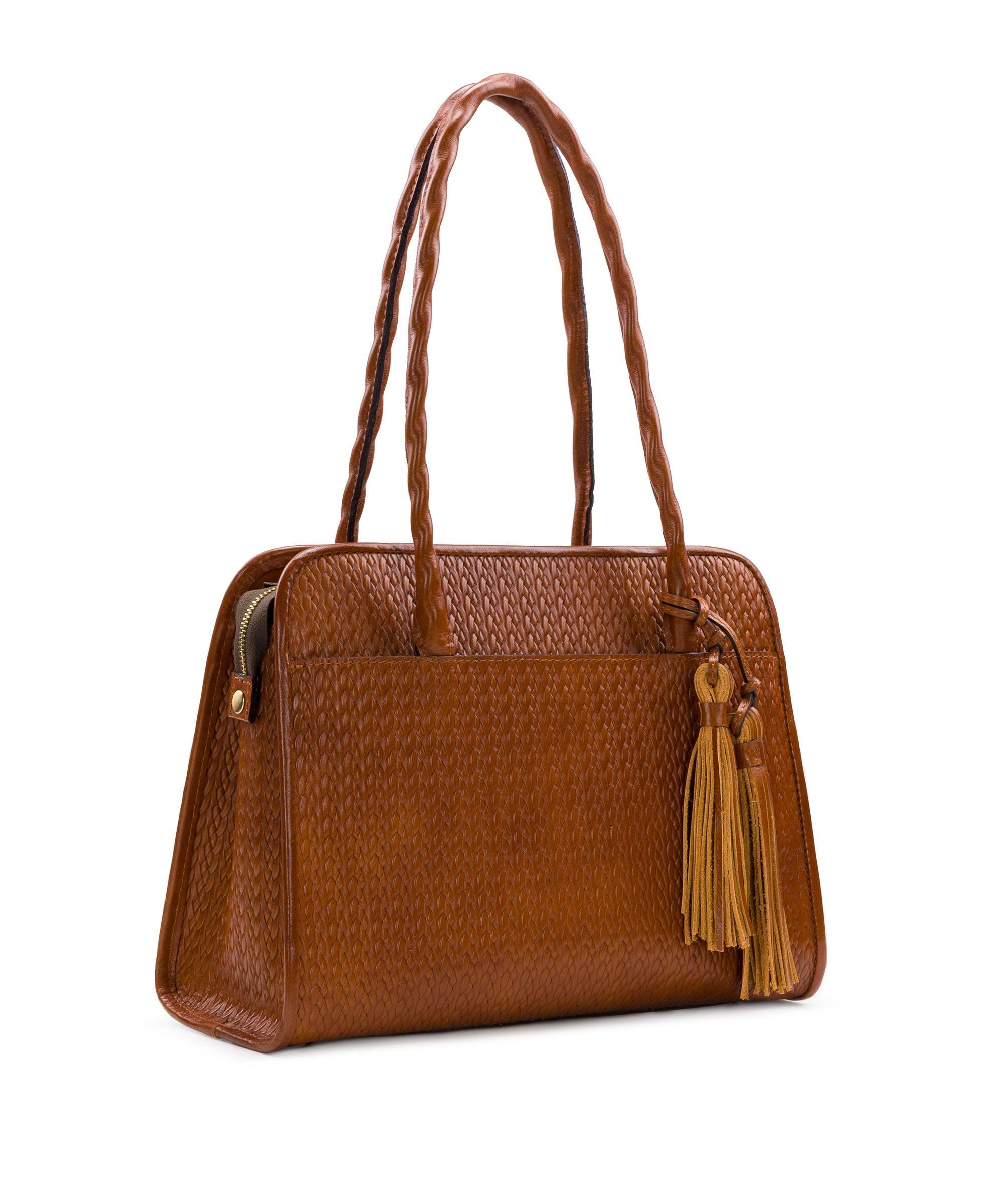 Paris Large Satchel - Twisted Woven Embossed 3