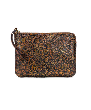 Cassini Wristlet - Coin Tooled - Cassini Wristlet - Coin Tooled