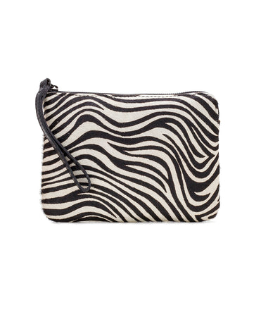 Cassini Wristlet - Zebra Haircalf - Cassini Wristlet - Zebra Haircalf