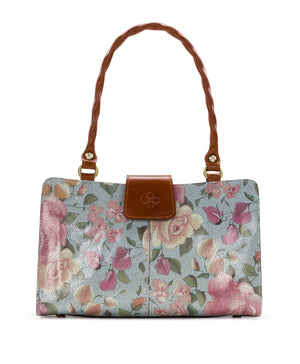 Rienzo Satchel - Crackled Rose