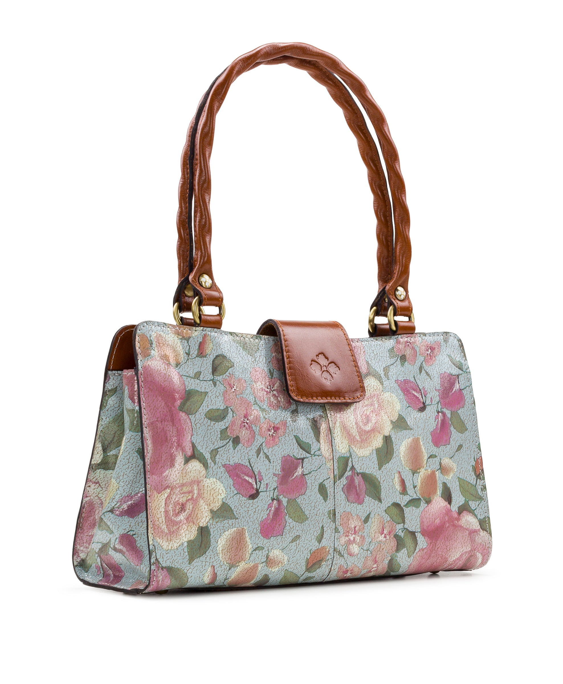 Rienzo Satchel - Crackled Rose 3