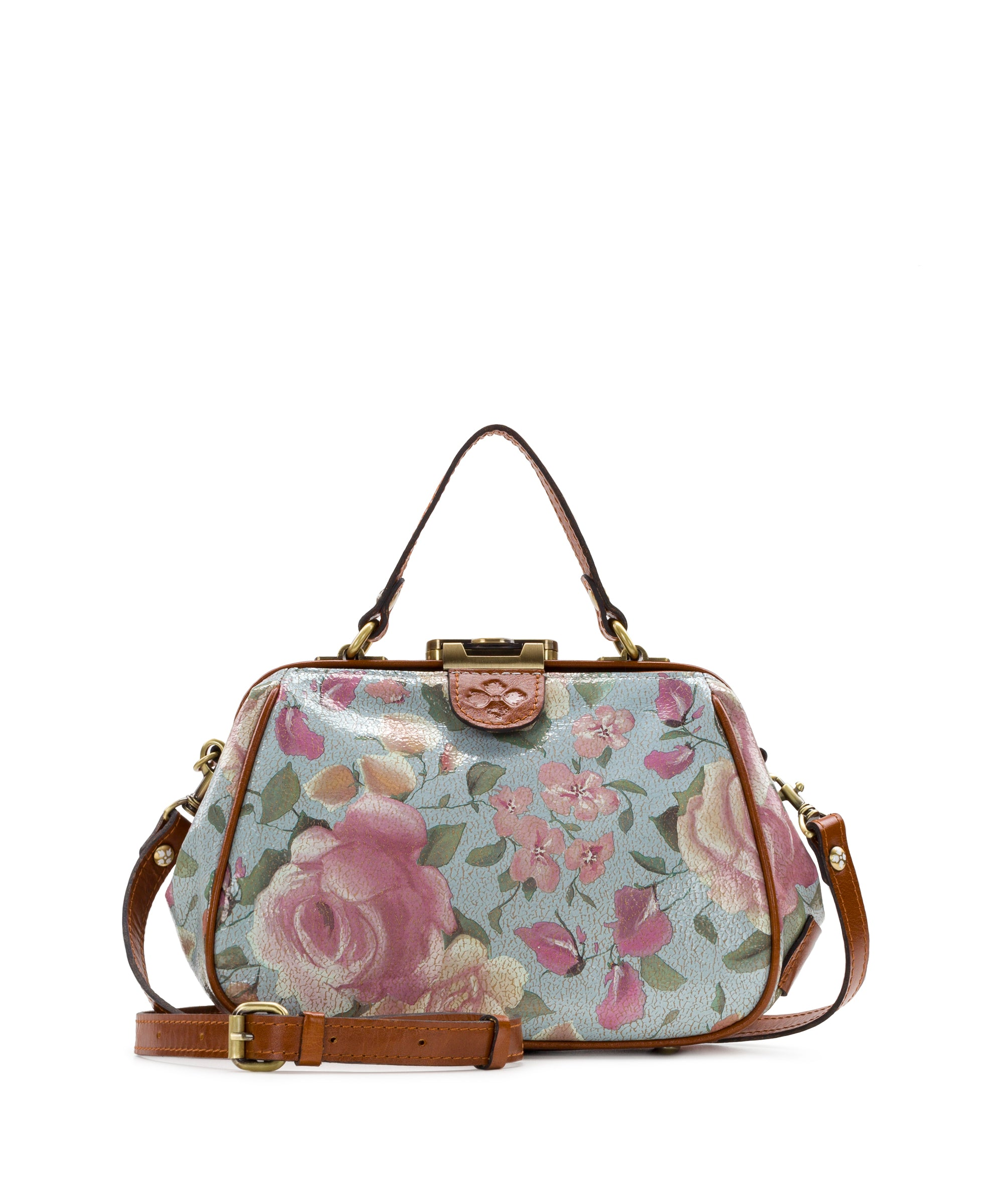 Gracchi Satchel - Crackled Rose