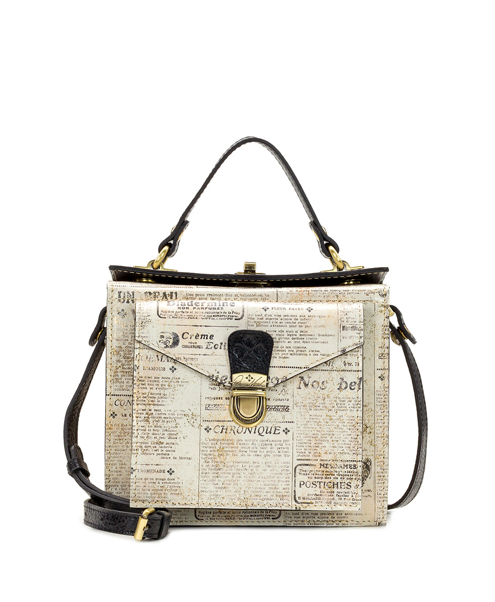 Carletti Square Crossbody - Newspaper