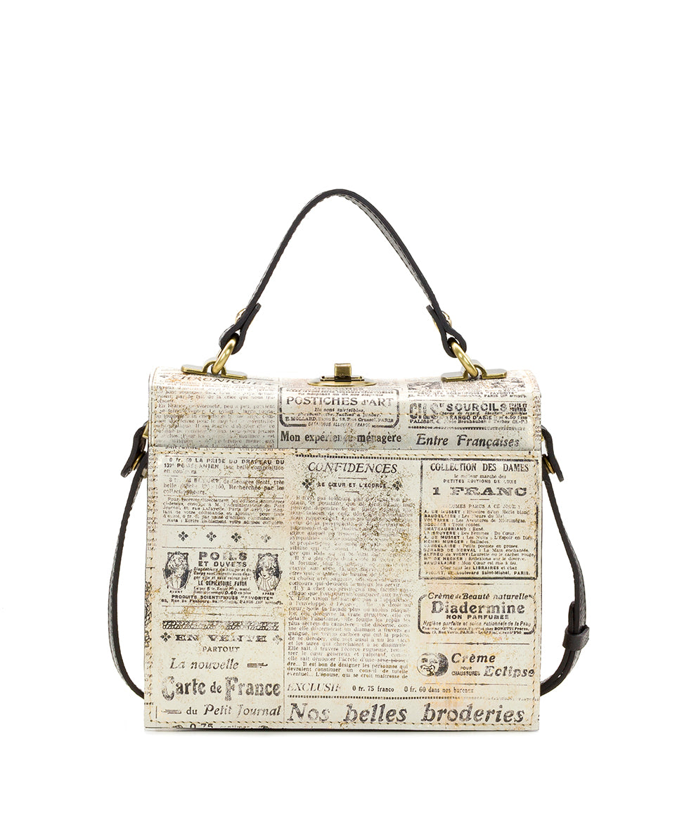 Carletti Square Crossbody - Newspaper 2