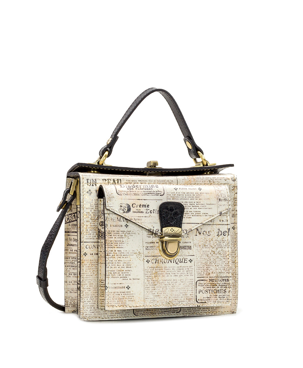 Carletti Square Crossbody - Newspaper 3