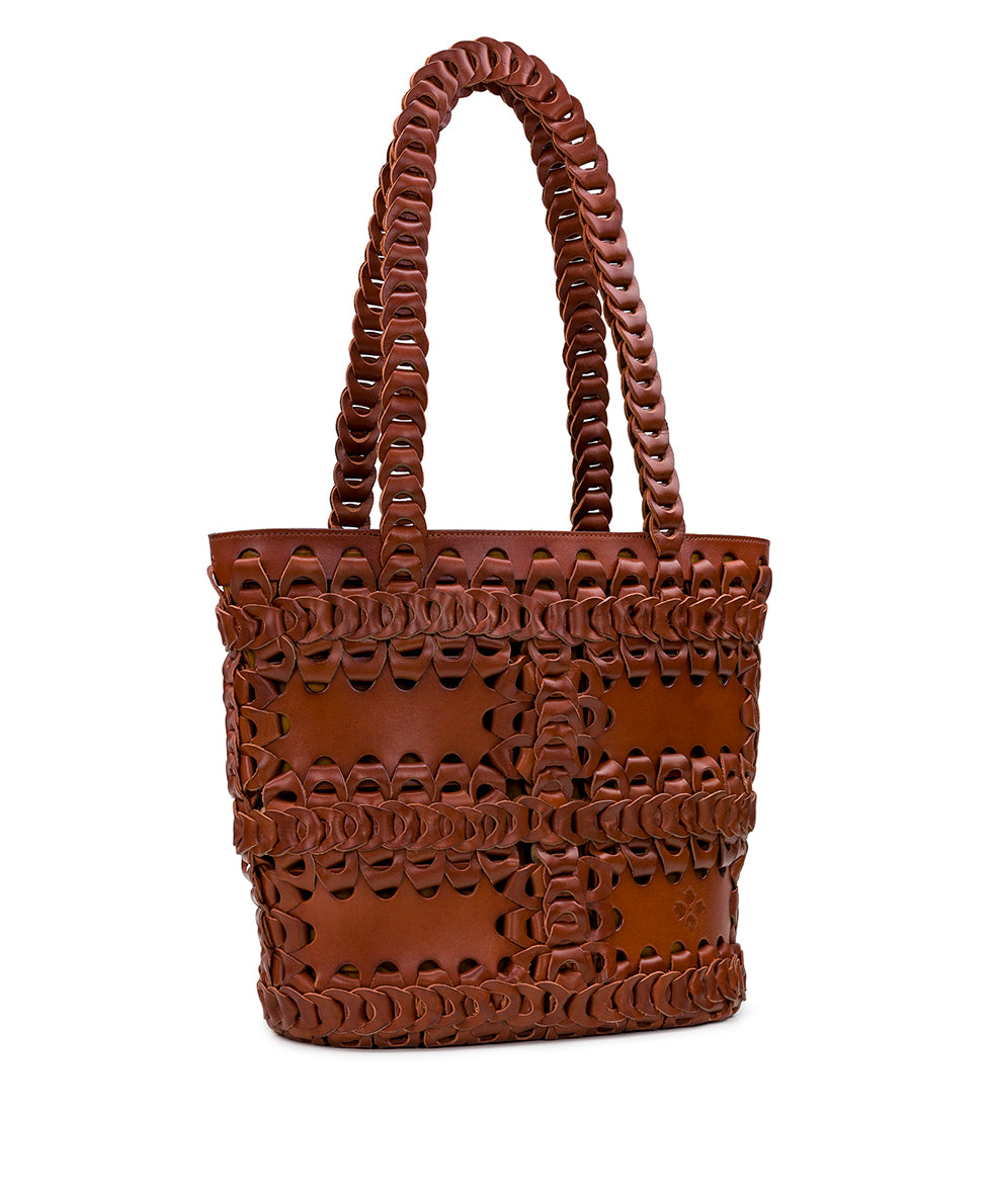 Ginosa Tote - Leather Chain Link 3