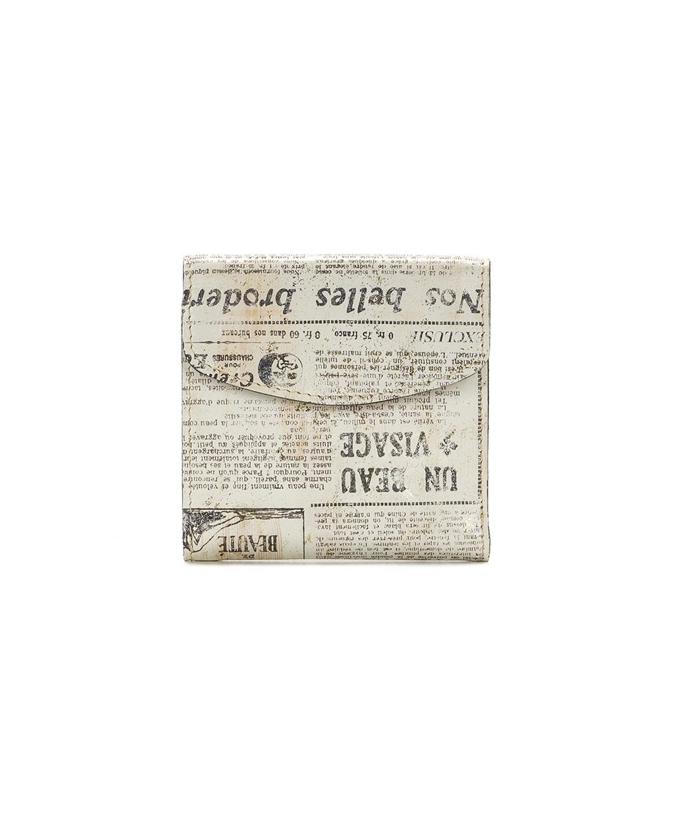 Reiti Bi-Fold Wallet - Newspaper
