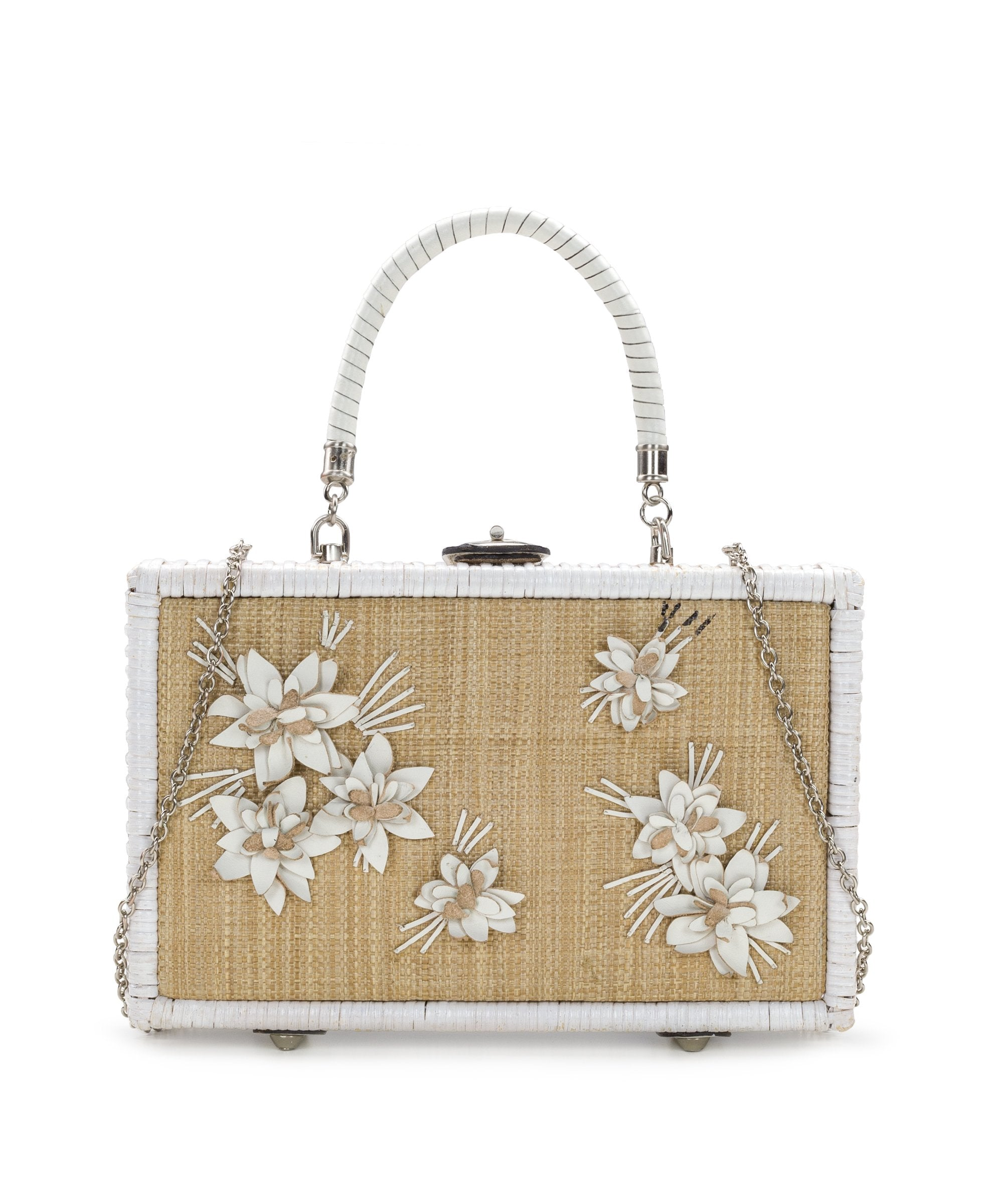 Lamezia Box Bag - Spring Wicker - White