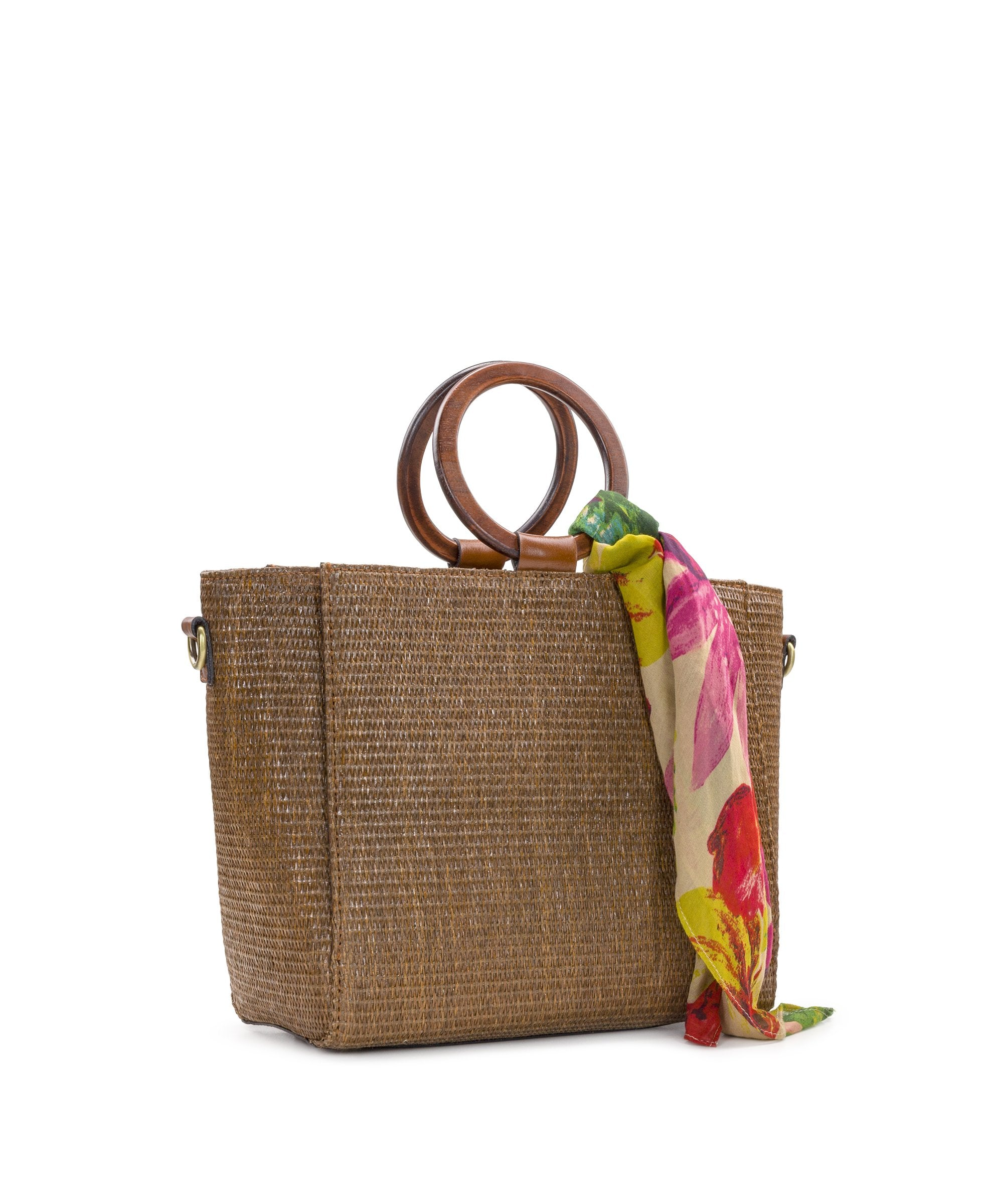 Mariola - Raffia Tobacco with Spring Multi Scarf 3