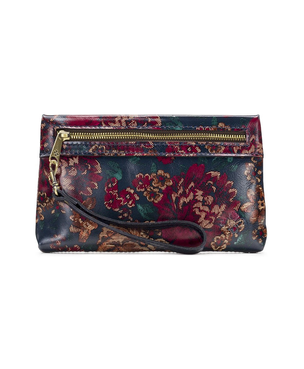 Sibilla Double Zip Wristlet - Fall Tapestry