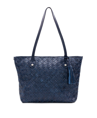 Viotti Tote - Braided Stitch - Denim