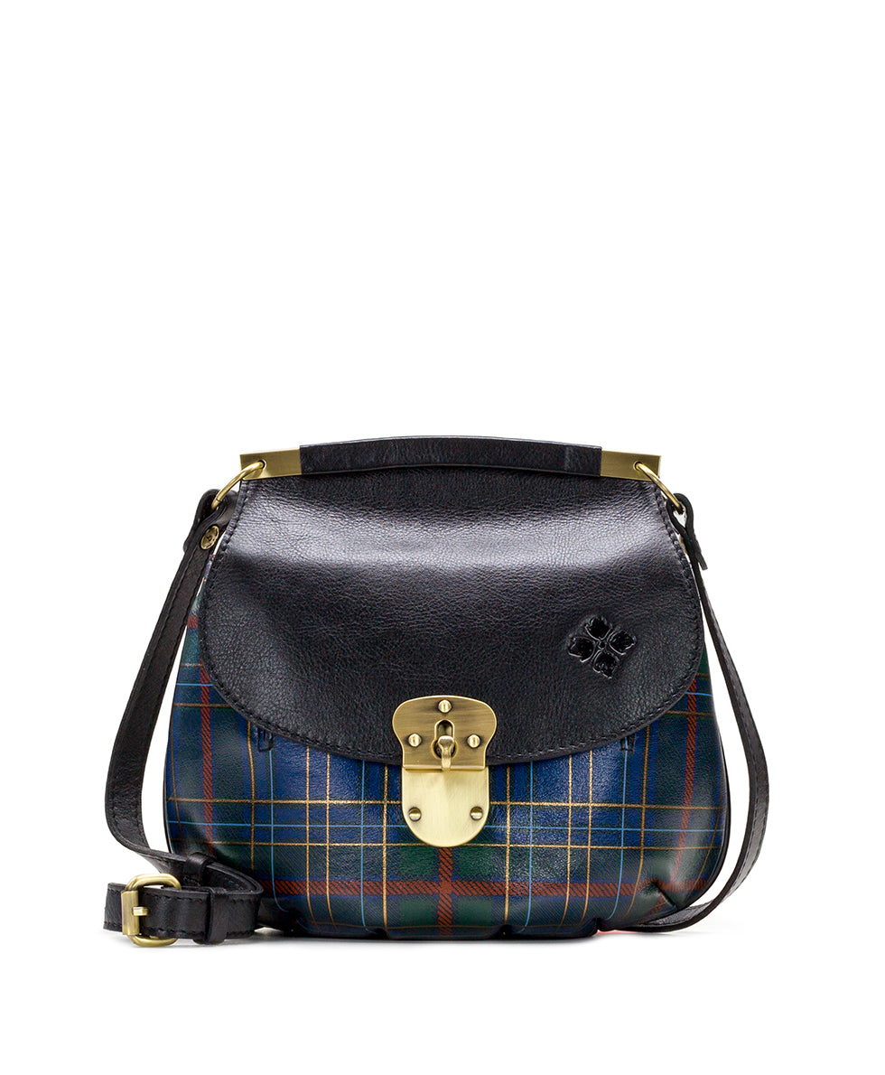 Veneto Crossbody - Blue Green Tartan Plaid