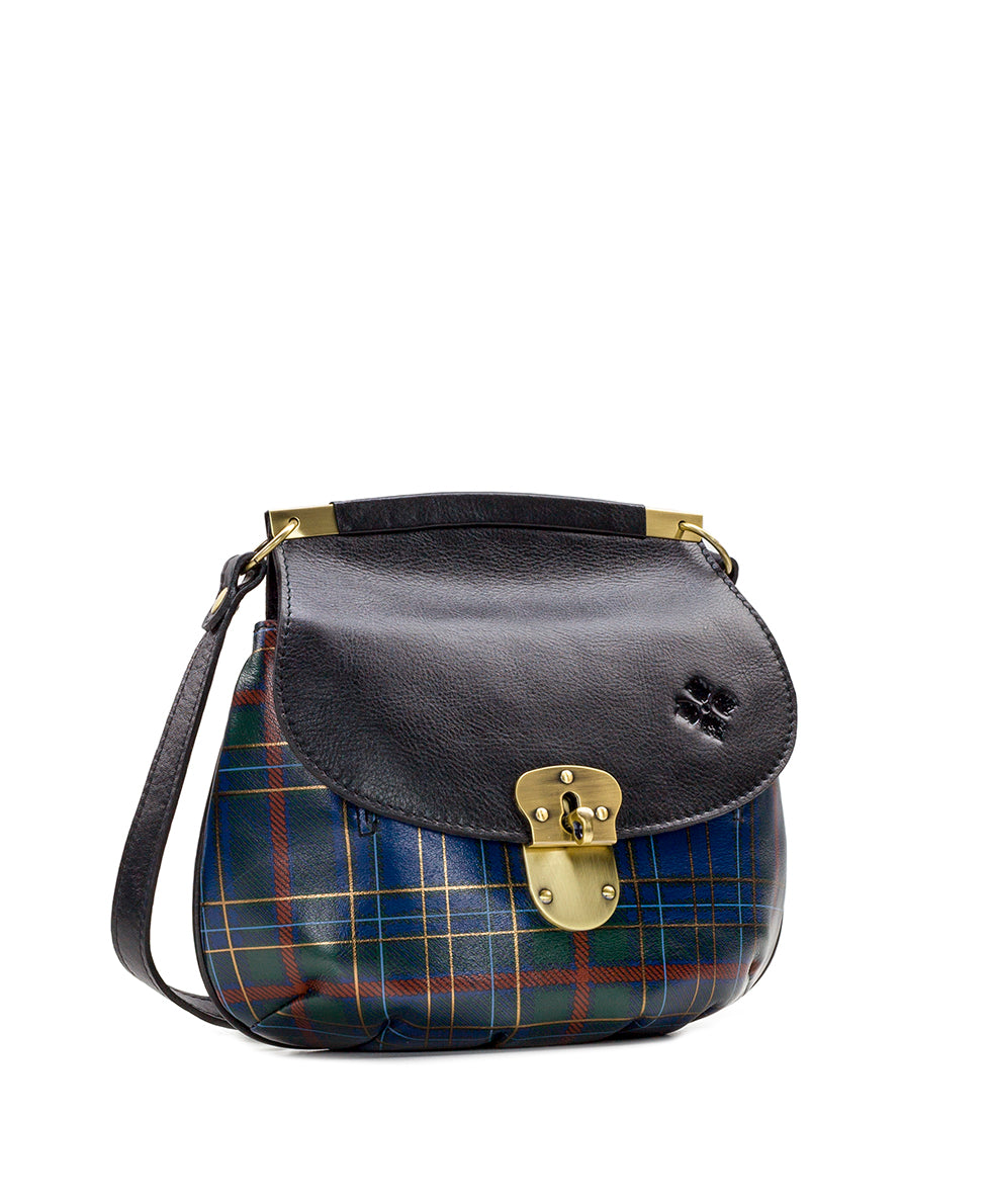 Veneto Crossbody - Blue Green Tartan Plaid 3