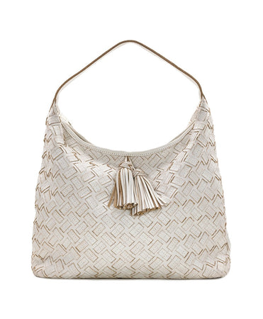 Marcellina Hobo - Braided Stitch - White