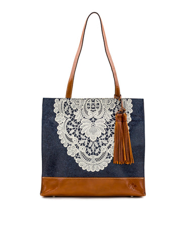Toscano Tote - Crochet Embroidery - Toscano Tote - Crochet Embroidery