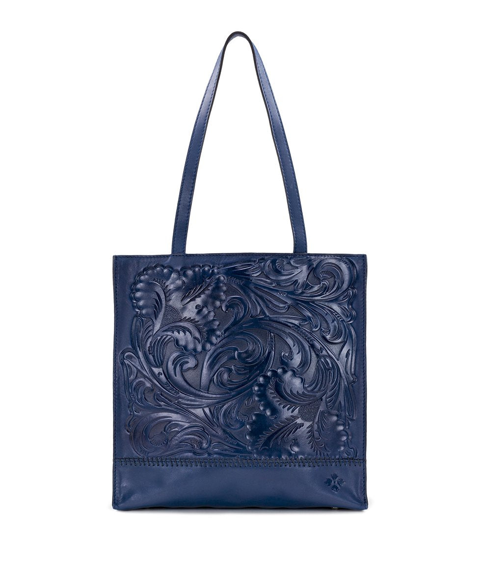 Toscano Tote - Waxed Tooled 1