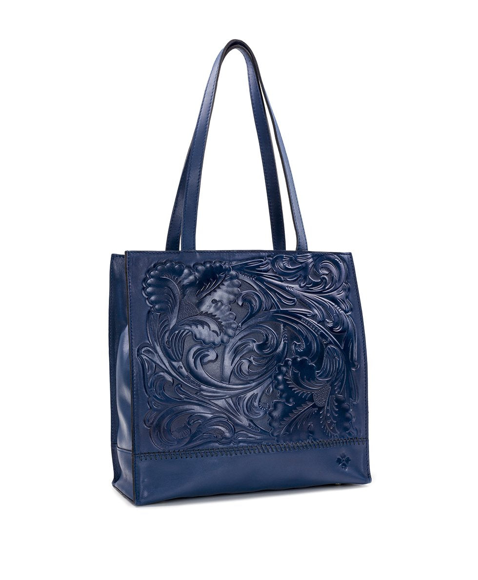 Toscano Tote - Waxed Tooled 3