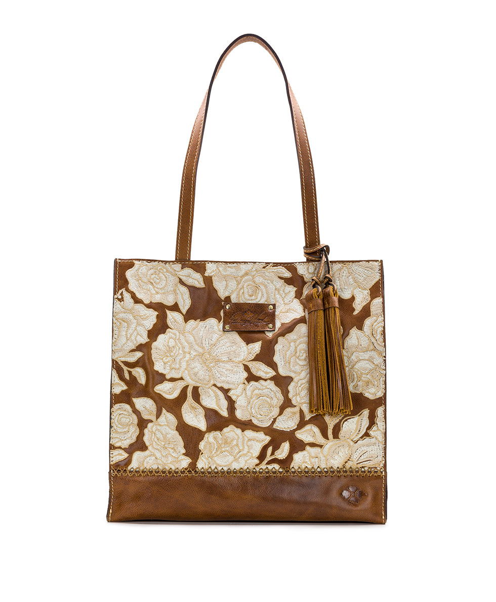 Toscano Tote - Tonal Natural Embroidery