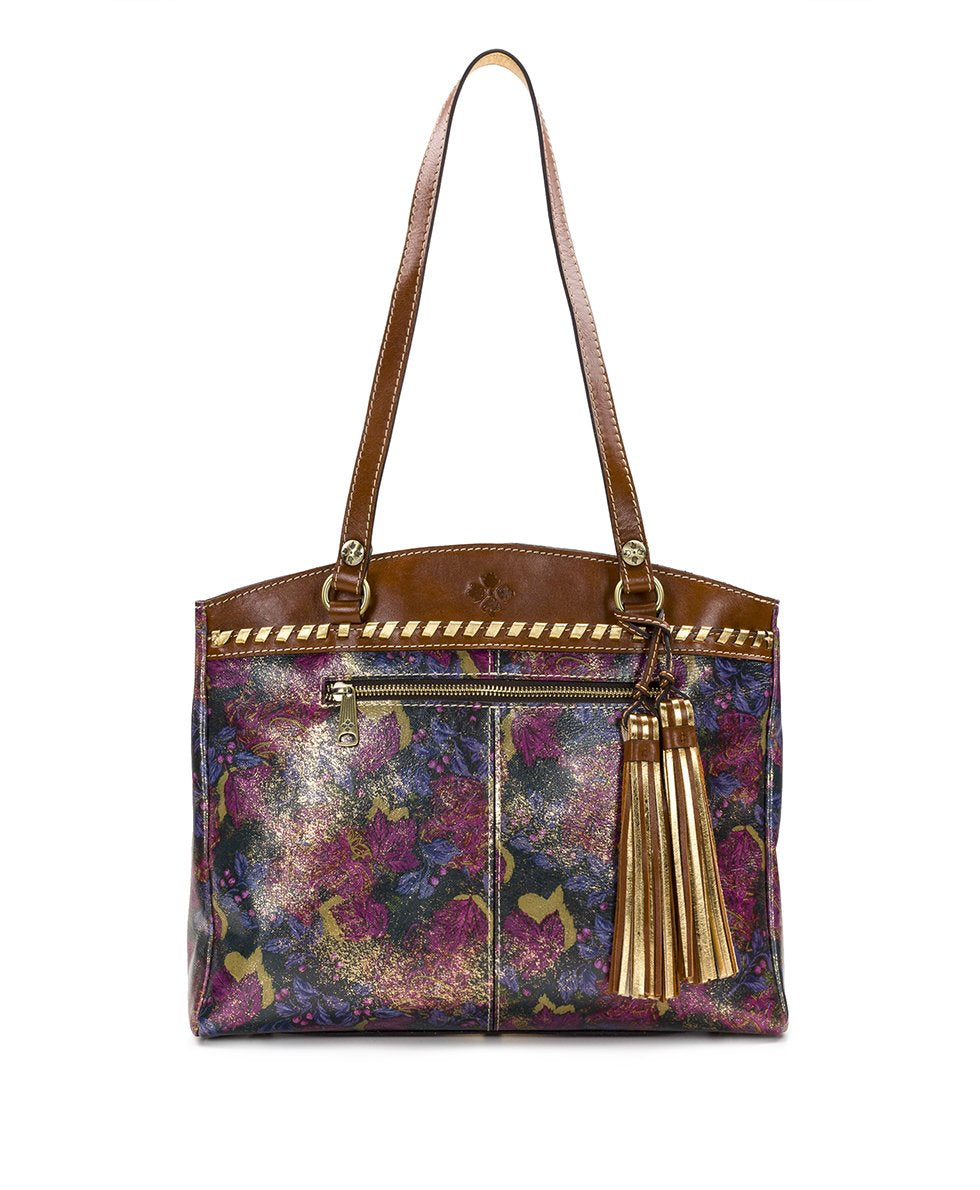 Poppy Tote - Metallic Dusted Paisley