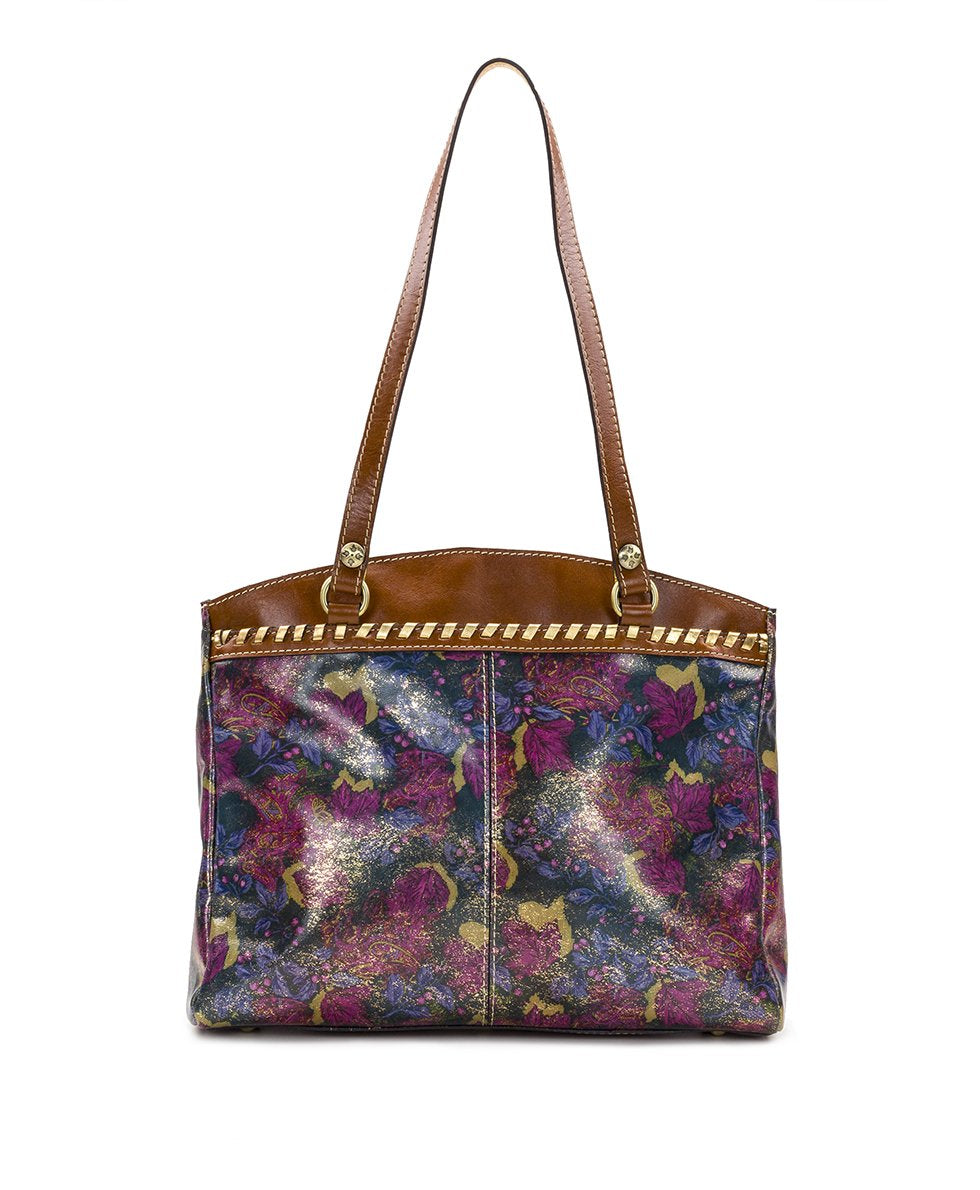 Poppy Tote - Metallic Dusted Paisley 2