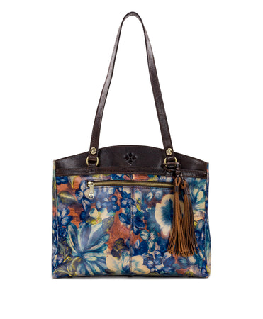 Poppy Tote - Blu Clay Floral - Poppy Tote - Blu Clay Floral