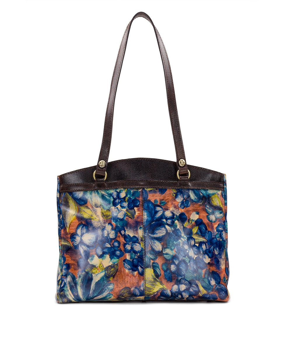Poppy Tote - Blu Clay Floral 2