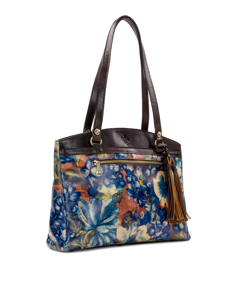 Poppy Tote - Blu Clay Floral 3