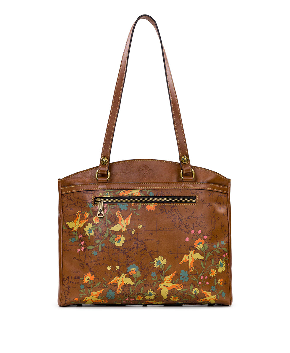 Poppy Tote - Floral Map