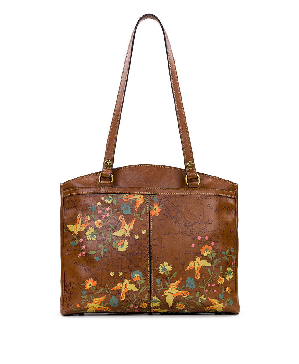 Poppy Tote - Floral Map 2