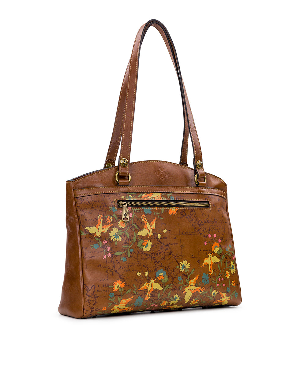 Poppy Tote - Floral Map 3