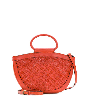 Ossi Satchel - Braided Stitch - Burnt Coral