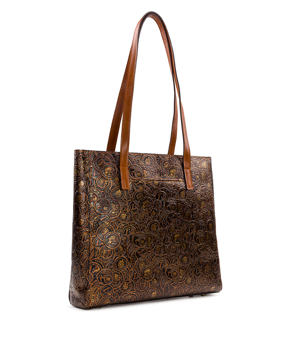 Viana Tote - Coin Tooled 3