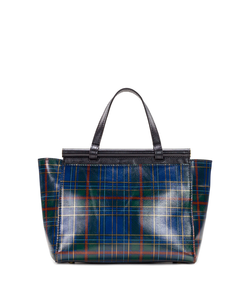 Viviani Satchel - Blue Green Tartan Plaid 2