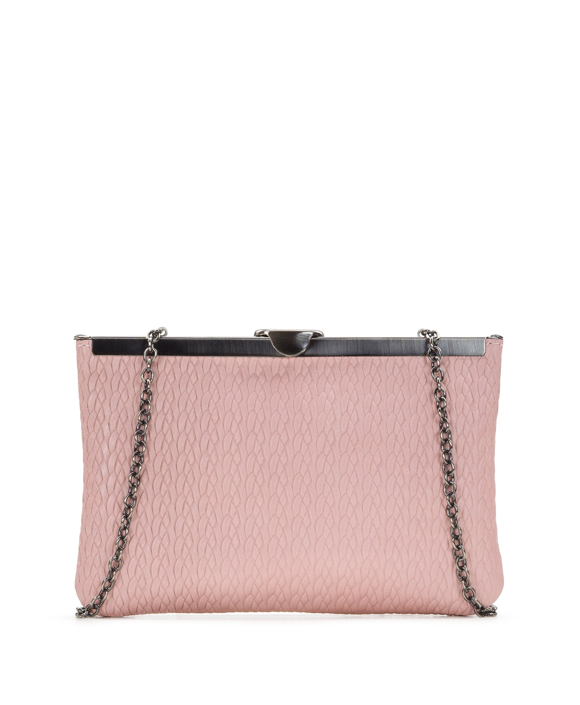 Asher Frame Clutch - Twisted Woven Embossed