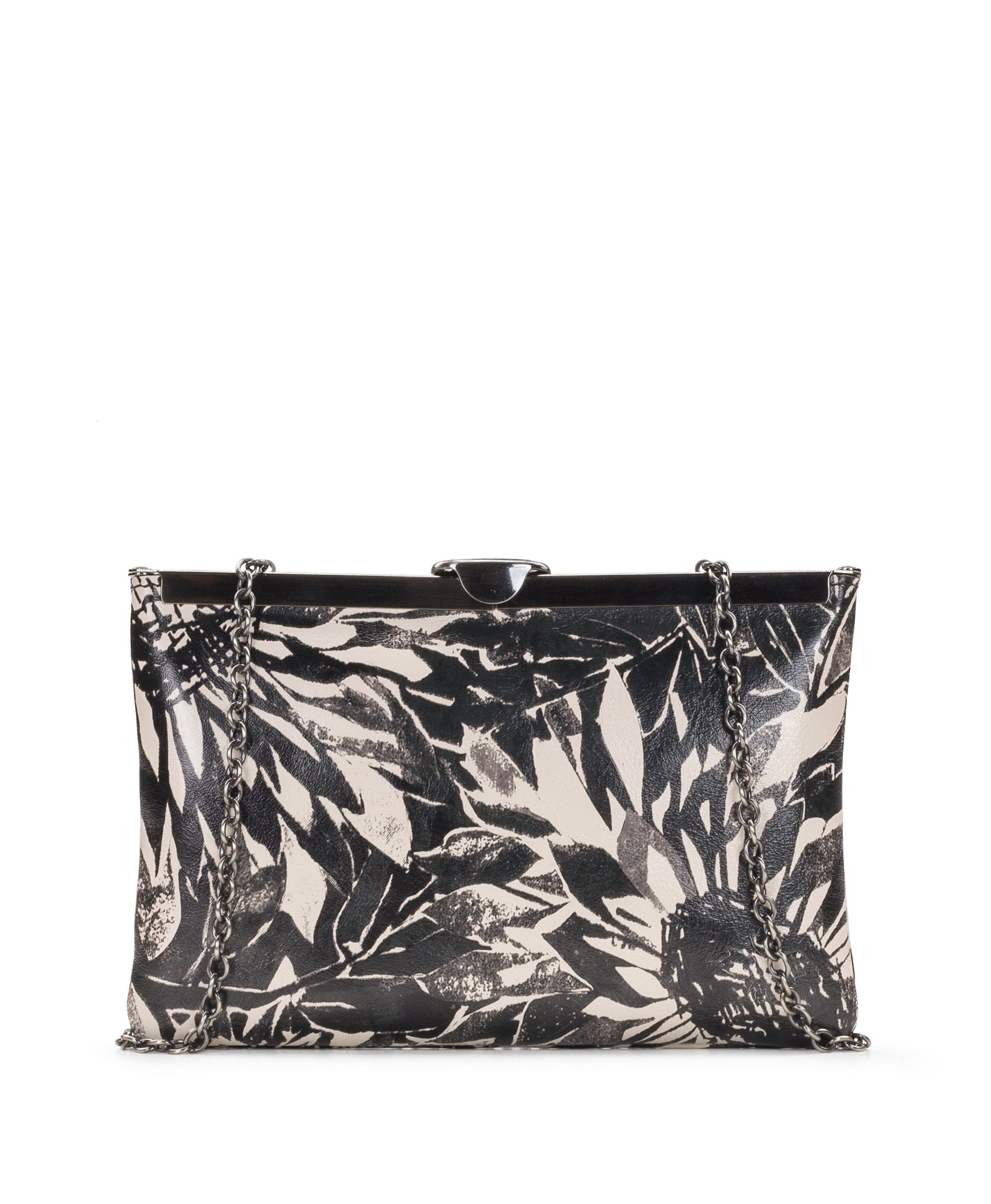 Asher Frame Clutch - Sunflower Print