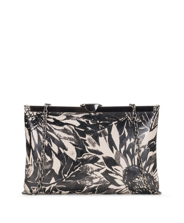 Asher Frame Clutch - Sunflower Print - Asher Frame Clutch - Sunflower Print