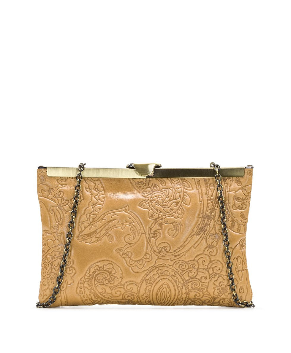 Asher Frame Clutch - Embossed Paisley