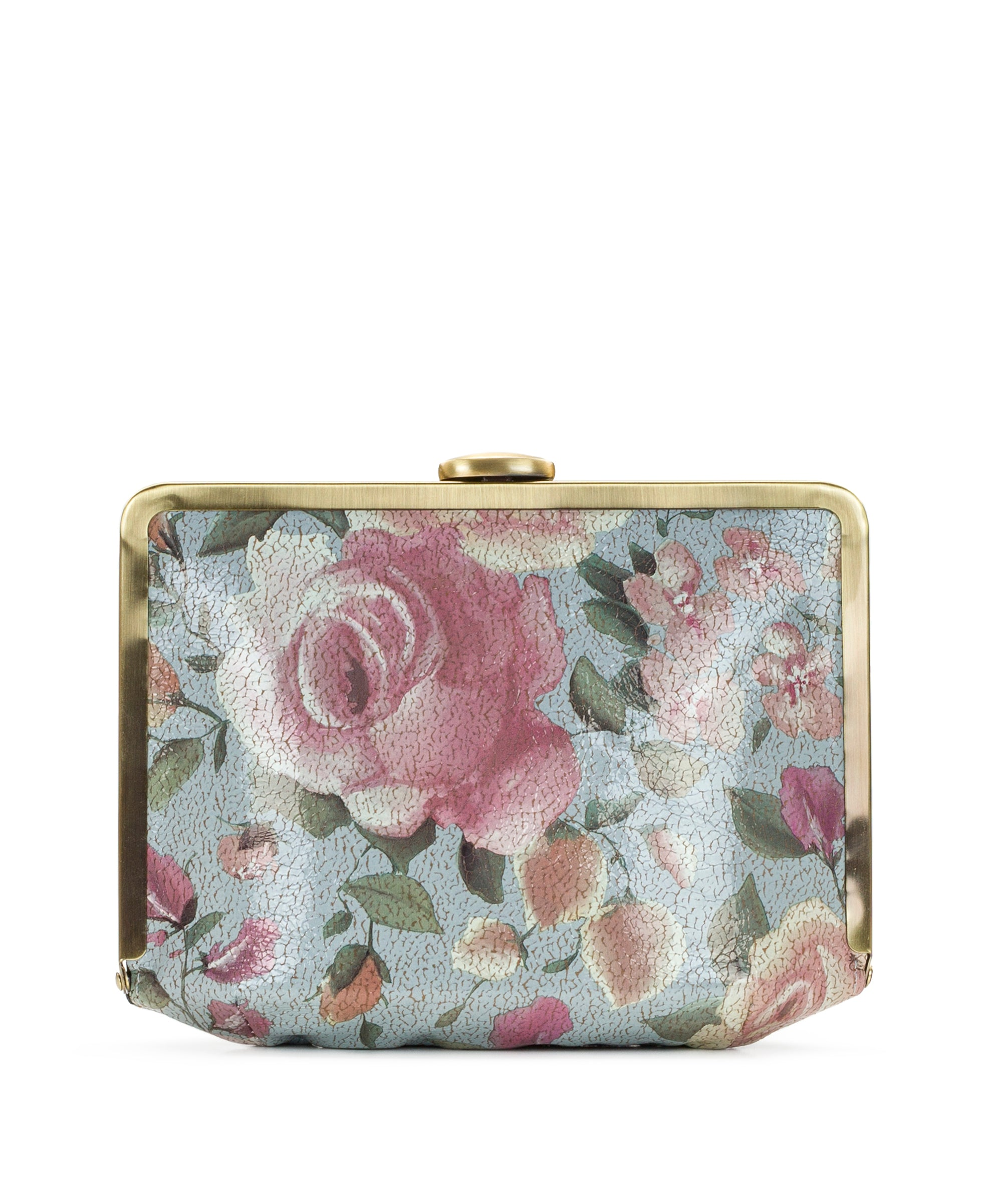 Cariati Metal Clutch - Crackled Rose