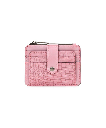 Cassis ID Wallet - Wavy Woven Embossed - Blush