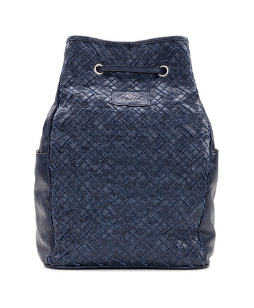 Tierce Drawstring Backpack - Braided Stitch - Denim