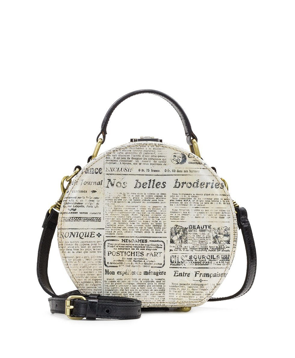 Allier Hat Box - Newspaper