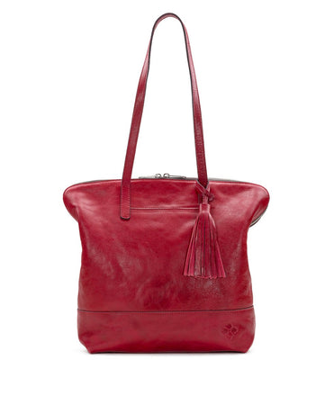 Rochelle Satchel - Leather Brights - Red