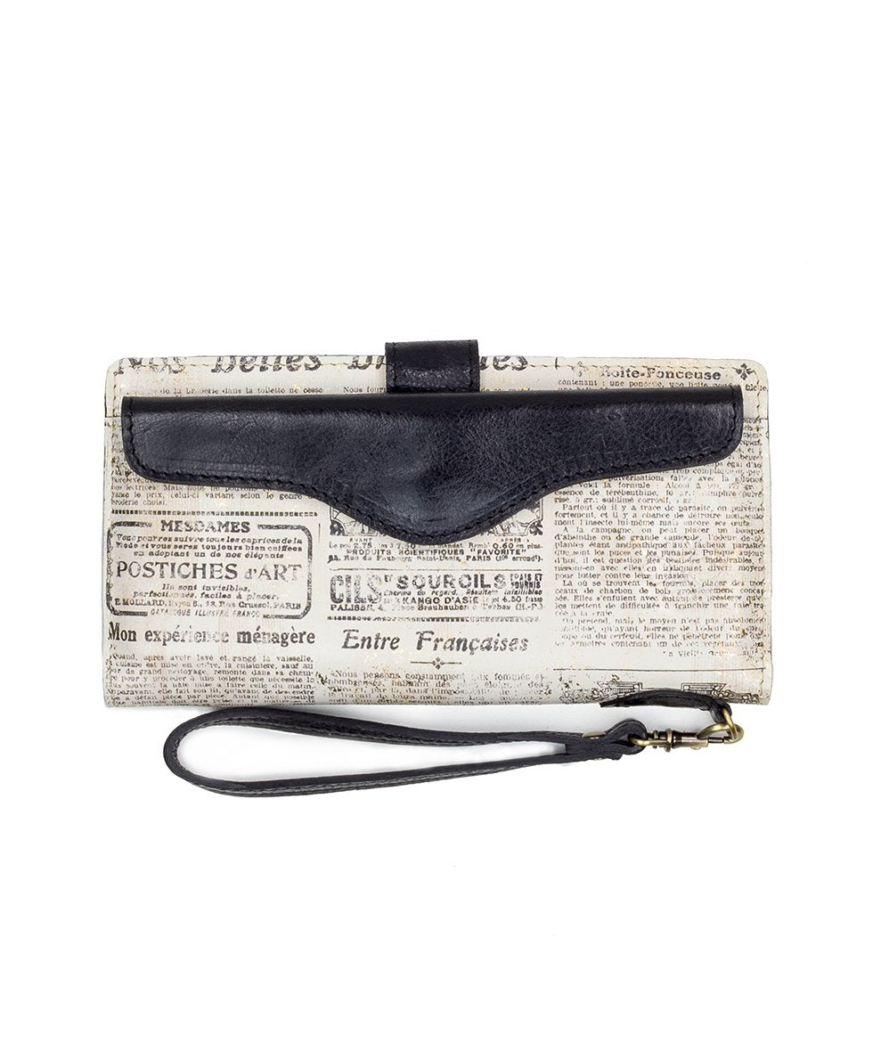 Valentia II Snap Wristlet - Newspaper 1