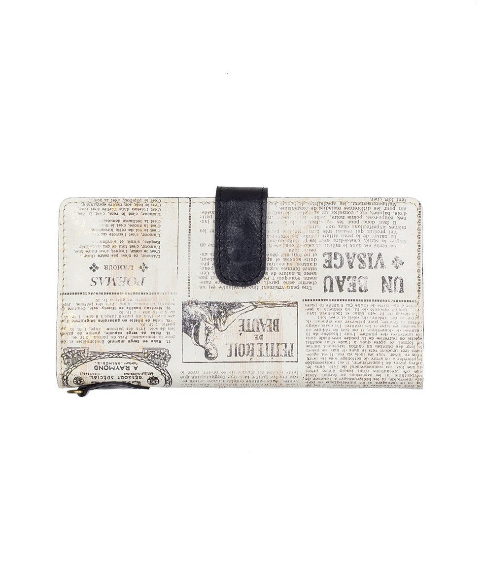 Valentia II Snap Wristlet - Newspaper 2