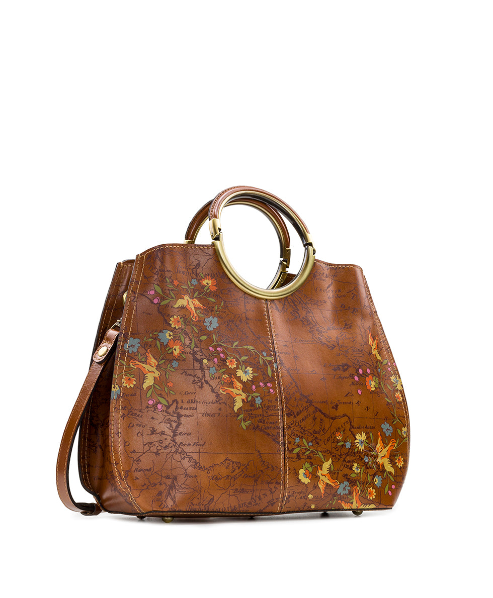 Arenzano Large Shopper - Floral Map 3